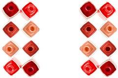 Ouvrez les bouteilles de vernis à ongles Image stock