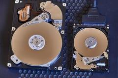 Ouvrez les disques durs Photos stock