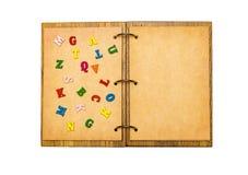 ouvrez les feuilles de bloc-notes de parchemin Photographie stock libre de droits