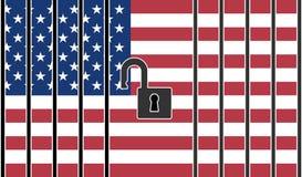 Ouvrez les frontières des USA Image stock