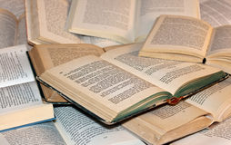 Ouvrez les livres image libre de droits