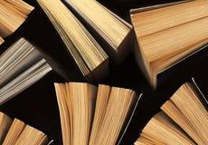 Ouvrez les livres, vue supérieure Photos stock