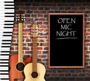 Ouvrez Mic Night Image libre de droits