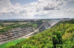 Ouvrez Pit Gold Mine, Afrique Images libres de droits
