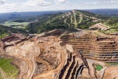Ouvrez Pit Mine photo stock