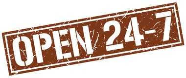 Ouvrez 24 timbres 7 Photos libres de droits