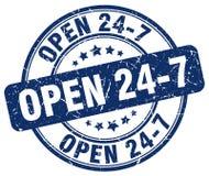 ouvrez 24 timbres 7 bleus Images libres de droits