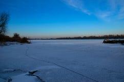 Ouvrez une session une neige Photographie stock