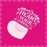 Ouvrez votre coeur Photos libres de droits