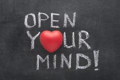 Ouvrez votre coeur d'esprit Images stock