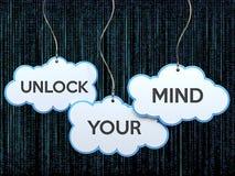 Ouvrez votre esprit sur la bannière de nuage illustration stock