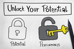 Ouvrez votre potentiel améliorent le concept de compétence illustration libre de droits