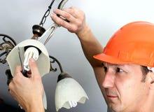 Ouvrier électrique Photos stock