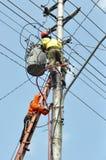 Ouvrier électrique Images libres de droits