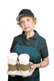 Ouvrier aîné - pourquoi je Photos stock