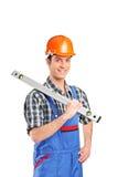 Ouvrier adulte de constructeur Photographie stock