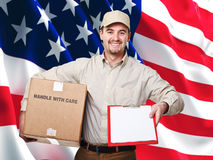 Ouvrier américain Photos stock