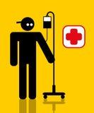 Ouvrier blessé avec l'égouttement illustration stock