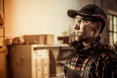 Ouvrier caucasien Photographie stock