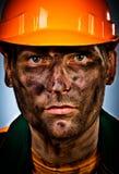 Ouvrier d'industrie pétrolière de verticale Images stock