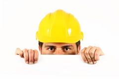 ouvrier de casque Photographie stock
