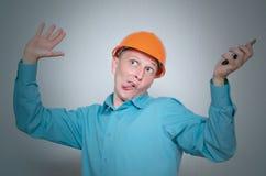 Ouvrier de constructeur image stock