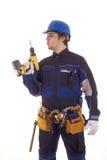 ouvrier de foret de construction Photo libre de droits
