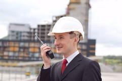 ouvrier de gestionnaire d'ingénierie de construction Photographie stock