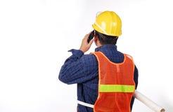 Ouvrier de gisement de pétrole Photos stock