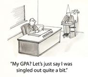 Ouvrier de GPA illustration stock
