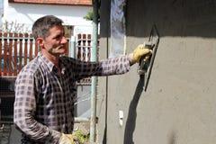 Ouvrier de maçon de construction Photo libre de droits