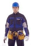 ouvrier de marteau de construction Photographie stock