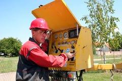 Ouvrier de pétrole et de gaz Photographie stock
