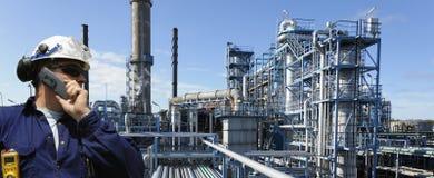 Ouvrier de pétrole et de gaz Image libre de droits