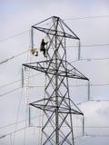 Ouvrier de pylône Image stock