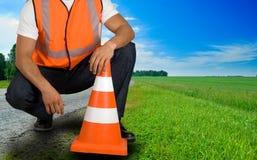 Ouvrier de route Photographie stock libre de droits