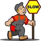 Ouvrier de route. illustration stock