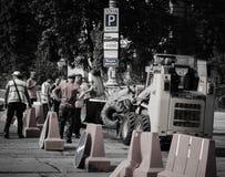 Ouvrier de route Images libres de droits