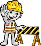 ouvrier de smartoon de construction illustration libre de droits