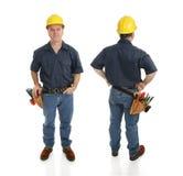 ouvrier de vues de la construction deux Photographie stock libre de droits