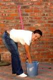 Ouvrier domestique images stock