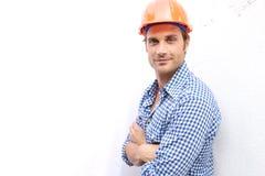 ouvrier du travail de construction Image stock