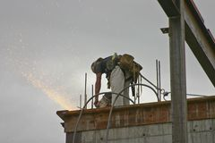 Ouvrier en acier Photo libre de droits