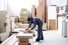 Ouvrier en bois Photographie stock