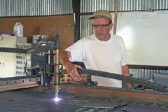 Ouvrier en métal Photo stock