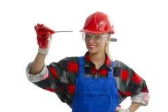 Ouvrier féminin Photos stock
