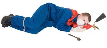 ouvrier fatigué Photo libre de droits