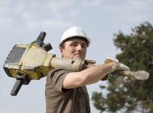 Ouvrier heureux Image libre de droits