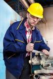 Ouvrier sur le travail Photographie stock libre de droits