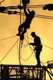 Ouvriers 02 de silhouette Photographie stock libre de droits